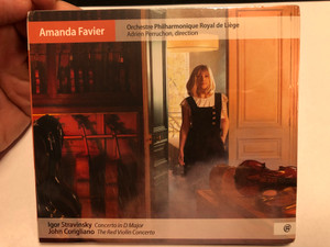 Amanda Favier / Orchestre Philharmonique Royal de Liege, Adrien Perruchon - direction / Igor Stravinsky - Concerto in D Major, John Corigliano - The Red Violin Concerto / NoMadMusic Audio CD 2020 / NMM073