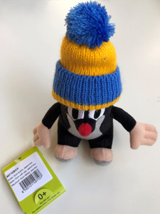 The Little Mole with blue & yellow hat 12 cm plush toy / Krtek - Krteček 12 cm kulich / Der klein Maulwurf blau & gelb kappe / Kisvakond Kék-sárga téli sapkával / Ages 0+ (8590121497107.)