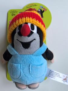Krtek - Little mole in trousers & red cap 14cm plush toy / Kleine Maulwurf hose & rot mütze / Krteček kalhot. + červ. kulich / Nadrágos kisvakond piros-sárga sapkával / 49918H (8590121501897)