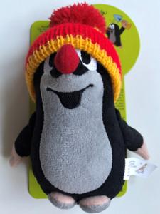 Krtek 15 cm with hat (red & yellow) Krtek 15 cm s kulichem červená se žlutou - Maulwurf / Kisvakond - Piros - Sárga Sapkás / Krteček / Age 0+ / česká plyšová hračka / Little Mole with hat 49906H (8590121501835)