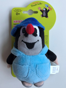 Krtek - Little mole in trousers + blue baseball cap 12cm / Kisvakond nadrágban kék baseball-sapkás / Maulwurf in hosen mit blau Kappe 12 cm / Krteček kalhot. kšiltovkou modr. / Ages 0+ / 49917E (8590121505116)