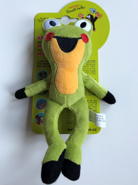 The Little Mole - Frog 14 cm / Krtek a kamarádi - Žába - Žabka / Maulwurf - Frosch / Kisvakond és barátai - Béka / Krteček / Age 0+ / The Most favourite Czech animated character (8590121499095)
