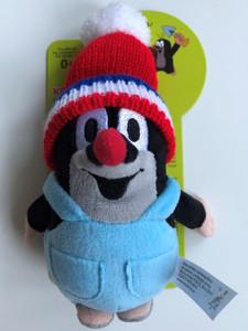 Krtek - Little mole in trousers & tricolor cap 14cm plush toy / Kleine Maulwurf hose & rot trikolor mütze / Krteček kalhot. + cerv. trikolor kulich / Nadrágos kisvakond kék-fehér-piros sapkával / 49918J (8590121505109)