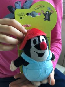 Krtek 12 cm - Little Mole in trousers & red cap / Kleine Maulwurf hose & rot mütze / Krteček kalhot. + červ. kulich / Nadrágos kisvakond piros-sárga sapkával / 49917F (8590121505222)