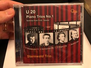 U 20 - Piano Trios No. 1 - Scherzo From F.A.E. Sonata / Sternwald Trio / D. Shostakovich (17), S. Rachmaninov (18), F. Chopin (19), J. Brahms (20) / The quiet music company Audio CD 2020 / QMC-020-0601-01