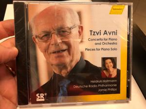 Tzvi Avni - Concerto For Piano and Orchestra, Pieces for Piano Solo / Heidrun Holtmann, Deutche Radio Philharmonie, Jamie Phillips / Hanssler Classic Audio CD 2020 / HC20040