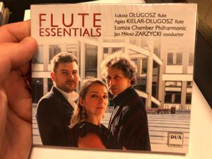 Flute Essentials / Lukasz Dlugosz - flute, Agata Kielar-Dlugost - flute, Lomza Chamner Philharmonic, Jan Milosz Zarzycki - conductor / Dux Recording Audio CD 2019 / DUX 1650