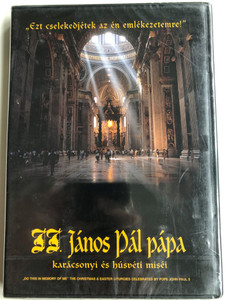 """Do this in memory of me"" DVD 1996 The Christmas & Easter liturgies of Pope John Paul II / II. János Pál pápa karácsonyi és húsvéti miséi / Christmas & Easter Masses of John Paul II. Catholic Pope (5999010459784)"