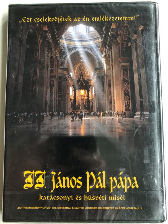 """Do this in memory of me"" DVD 1996 The Christmas & Easter liturgies of Pope John Paul II / II. János Pál pápa karácsonyi és húsvéti miséi / Christmas & Easter Masses of John Paul II. Catholic Pope (5999010459784)"