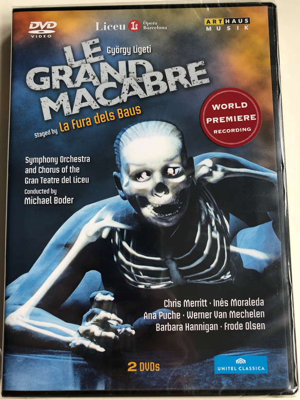 Le grand Macabre DVD 2012 World Premiere recording / Directed by Xavi Bové / Libretto by György Ligeti / Symphony Orchestra and Chorus of the Gran Teatre del Liceu - Conducted by Michael Boder (807280164398)