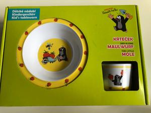 Krtek - Little Mole Kid's tableware 3pcs , strawberry - Der kleine Maulwurf Kindergeschirr - erdbeer / Krteček - Dětské nádobí - jahody / 68717S / Kisvakond 3 részes étkészlet - földieper (8590121503617)