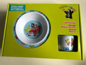 Krtek - Little Mole Kid's tableware 3pcs , jeep - Der kleine Maulwurf Kindergeschirr / Krteček - Dětské nádobí - jeep / 68717U / Kisvakond 3 részes étkészlet - jeep (8590121503624)