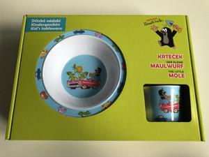 Krtek - Little Mole Kid's tableware 3 pcs, Car - Krteček Dětské nádobí - Der Kleine Maulwurf - Kindergeschirr / Kisvakond gyerek étkészlet 3 részes / 68717M / Sada nádobi 3d. Krtek autičko (8590121504508)