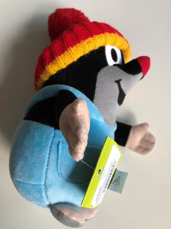 Krtek - Little mole in trousers & red cap 20cm plush toy / Kleine Maulwurf hose & rot mütze / Krteček kalhot. + červ.ž kulich / Nadrágos kisvakond piros-sárga sapkával / 47918H (8590121504898)