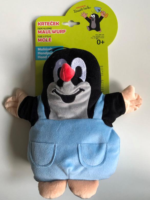 Krtek - Little Mole hand puppet 20cm / Krteček kalhotky, manasek / Maulwurf, Hosen handpuppe / Kisvakond nadrágban - kézi báb / 20910A (8590121209106)