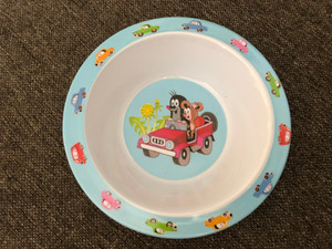 Krtek - Little Mole bowl 16cm - jeep / Krteček miska / Kisvakond tál 16cm jeep / Kleine Maulwurf tiefe Platte, 21cm / 68002U (8590121680028)