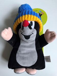 Krtek - Little Mole blue cap hand puppet 25cm / Krteček modr. kulich, manasek / Maulwurf, Mütze blau handpuppe / Kisvakond téli sapkás - kézi báb / 20906Q (8590121500302)