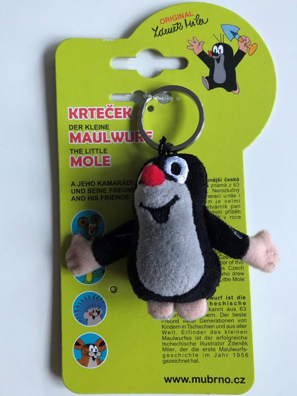 Krtek - Little Mole 6cm key ring / Krteček 6cm, kroužek / Maulwurf 6cm Schlüsselring / 35955Z / Kisvakond 6cm kulcstartó (8590121359559)