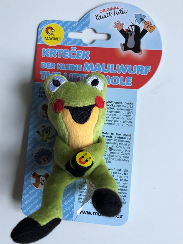 The Little Mole - Frog 12 cm magnets / Krtek a kamarádi - Žába - Žabka magnety / Maulwurf - Frosch magneten / Kisvakond és barátai - Béka mágnes / Krteček / Ages 3+ / The Most favourite Czech animated character (8590121399197)