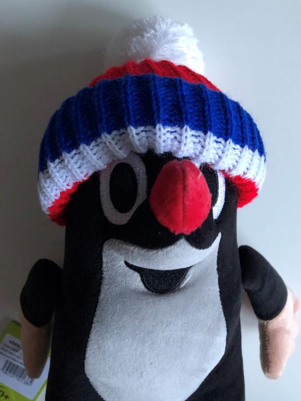 Krtek - Little Mole 24cm blue-white-red cap / Krteček 24cm kulich červ. trikol / Der kleine Maulwurf 24cm Mütze rot / Kisvakond téli sapkában 24cm / 45906J / Ages 0+ (8590121501385)