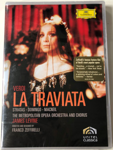 Verdi - La Traviata DVD 1995 / Directed by Franco Zeffirelli / The Metropolitan Opera Orchestra and Chorus / Conducted by James Levine / Unitel Classica - Deutsche Grammophon / Stratas - Domingo, Macneil (044007343647)