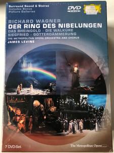Richard Wagner - Der Ring des Nibelungen 7 DVD-SET / Das Rheingold - Die Walküre, Siegfried - Götterdämmerung / Metropolitan Opera Orchestra & Chorus / Conducted by James Levine / Directed by Brian Large / NTSC (044007304396)
