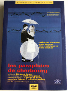 Les parapluies de cherbourg (1964) 2DVD L'univers de Jacques Demy (1990) / The Umbrellas of Cherbourg / Directed by Jacques Demy / Starring: Catherine Deneuve, Anne Vernon, Nino Castelnuovo, Marc Michel / Documentary: The World of Jacques Demy (3530941010808)
