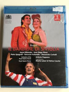 Rossini - Il Barbiere di Siviglia Bluray Disc 2009 / Directed by David Stevens / Recorded live at the Royal Opera House / Conducted by Antonio Pappano / Royal Opera Chorus, Orchestra of the Royal Opera House / Erato (0825646055296)