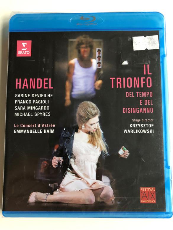 Handel - Il Trionfo Del Tempo e Del Disinganno Blu-ray disc 2016 / Directed by Stéphane Metge / Sabine Devieilhe, Sara Mingardo, Franco Fagioli, Michael Spyres / Music by Emmanuelle Haïm / Erato (0190295819293)