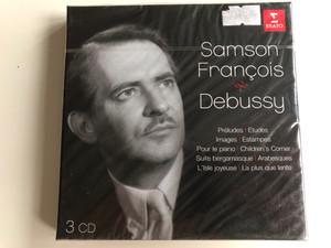 Samson François – Debussy / Preludes, Etudes, Images, Estampes, Pour le piano, Children's Corner, Suite bergamasque, Arabesques, L'Isle joyeuse, La plus que lente / Erato 3x Audio CD 2012 / 5099963875423