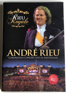 André Rieu - Coronation Concert Live in Amsterdam DVD 2013 Rieu Royale / Bonus: In conversation with André Rieu / Coronation Waltz, Time To Say Goodbye, Radetzky March, Amazing Grace / Universal (0602537399970)