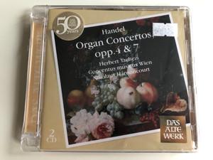 Handel – Organ Concertos, Opp. 4 & 7 / Herbert Tachezi, Concentus Musicus Wien, Nikolaus Harnoncourt / Das Alte Werk / Teldec Classics 2x Audio CD 2009 / 2564 69051-6