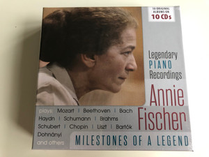 Legendary Piano Recordings - Annie Fischer plays: Mozart, Beethoven, Bach, Haydn, Schumann, Brahms, Schubert, Chopin, Liszt, Bartok, Dohnanyi and others / Milestones Of A Legend / The Intense Media 10x Audio CD / 600375
