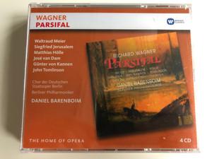 Wagner – Parsifal / Waltraud Meier, Siegfried Jerusalem, Matthias Hölle, José van Dam, Günter von Kannen, John Tomlinson / Chor Der Staatsoper Berlin, Berliner Philharmoniker, Daniel Barenboim / Warner Classics 4x Audio CD 2016 / 0825646426331