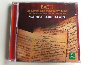 Bach - Die Kunst Der Fuge (BWV 1080) - L'Art De La Fugue - The Art Of Fugue / Marie-Claire Alain / Erato 2x Audio CD 2017 Stereo / 0190295895174