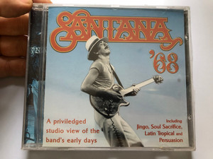 Santana '68 / A priviledged studio view of the band's early days / Including: Jingo, Soul Sacrifice, Latin Tropical and Persuasion / Prism Leisure ‎Audio CD 1997 / PLATCD 258