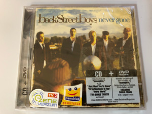Backstreet Boys ‎– Never Gone / CD includes their hit ''Incomplete'' plus ''Just Want You To Know'' + DVD includes the making of and full video for ''Incomplete'' / Jive ‎Audio CD + DVD CD 2005 / 82876 70297 2