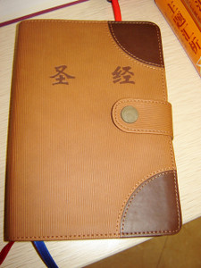 Chinese Bible with Pen, Golden Edges and Thumb Index, Maps / Midsize 126 X 185