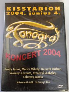 Fonográf DVD 2004 Koncert / Bródy János, Szörényi Levente, Tolcsvay László, Móricz Mihály, Németh Oszkár, Szörényi Szabolcs / Featuring – Szörényi Örs / Recorded LIVE at Budapest, Kisstadion / Europa Records (5990501940088)