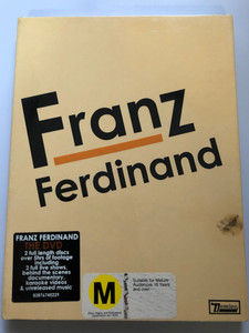 Franz Ferdinand THE DVD - 2 DVD 2005 / 2 full length discs - Live At Brixton, Live in San Francisco - behind the scenes documentary, karaoke, unreleased music / Domino - Sony BMG (0828767452296)