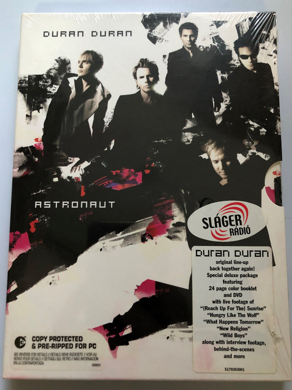 Duran Duran - Astronaut CD + DVD 2004 / (Reach Up For The) Sunrise, Want You More! ,What Happens Tomorrow / Featuring 24 page color booklet and live footage of (Reach Up For The) Sunrise, Hungry Like The Wolf, What Happens Tomorrow / Epic Records (5099751792031)