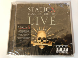 Static X ‎– Cannibal Killers Live / The first live concert DVD from the pioneers of EVIL DISCO, Features complet live concert and CD / Reprise Records ‎DVD + Audio CD 2008 / 9362498365