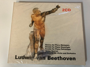 Ludwig van Beethoven - Sonata for Piano Waldstein, Sonata for Piano Moonlight, Sonata for Piano Pathetique, String Quartet, Concerto for Violin and Orchestra / Accord Song 2x Audio CD / Accord Song 463