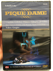 Pique Dame - Tchaikovsky DVD 1992 The Queen of Spades / Conducted by Valery Gergiev / Grigorian, Leiferkus, Filatova, Gulegina, Borodina / Kirov Opera and Orchestra / Philips Productions (044007043493)