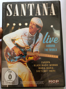 Santana DVD Live Around The World / Europa, Black Magic Woman, Maria, She's not there / MCP Sound & Media 161.396 (9002986613961)