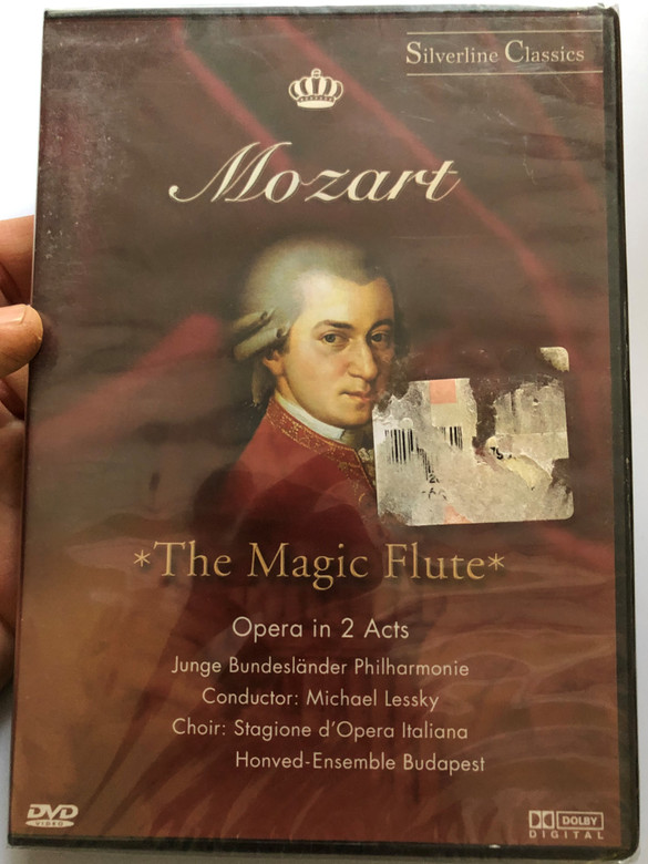 Mozart - The Magic Flute DVD Opera in 2 Acts / Directed by Robert Herzl / Junge Bundesländer Philharmonie, Honved-Ensemble Budapest, Stagione d'Opera Italiana / Conducted by Michael Lessky (4028462800194)