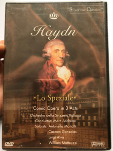 Haydn - Lo Speziale DVD Comic Opera in 3 Acts / Directed by Filippo Crivelli / Orchestra della Svizzera Italiana / Conducted by Marc Andreae / Recorded at the Congress Palace, Lugano, Switzerland 1982 (5999881068337)