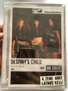 Destiny's Child DVD 2006 Live in Atlanta DVD On Stage / Directed by Julia Knowles / Say my Name, No,No,No, Dilemma, Baby boy, Lose My Breath / Bonus Features & Audio (886973597699)