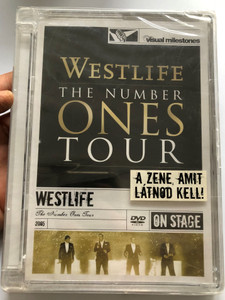 Westlife - The Number Ones Tour DVD 2005 DVD On Stage / Uptown girl, Unbreakable, Pretty Woman, Ain't that a kick in the head / Best of Westlife Live / Visual Milestones / Sony Music Entertainment (886974638193)