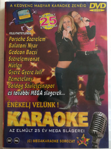 Karaoke - Az elmúlt 25 év Mega Slágere! DVD Énekelj velünk / Porsche Szerelem, Balatoni nyár, Gedeon Bácsi, Hűtlen / Famous Hungarian Songs karaoke / Chris Midi Stúdió (731406873690)